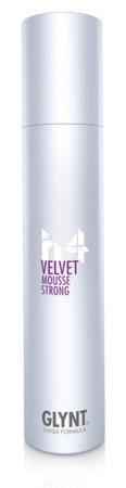 VELVET Mousse Strong - średnio / mocno utrwalająca pianka do włosów, szczególnie do włosów cienkich, nadaje fryzurze mocno utrzymujący się kształt